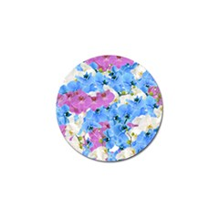 Tulips Floral Pattern Golf Ball Marker