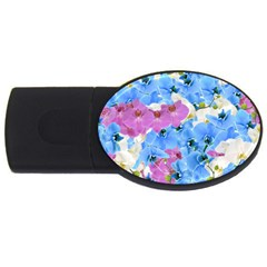 Tulips Floral Pattern USB Flash Drive Oval (2 GB)