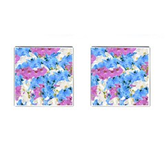 Tulips Floral Pattern Cufflinks (Square)