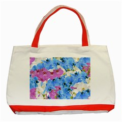 Tulips Floral Pattern Classic Tote Bag (Red)