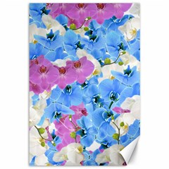Tulips Floral Pattern Canvas 12  x 18