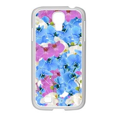 Tulips Floral Pattern Samsung Galaxy S4 I9500/ I9505 Case (white)
