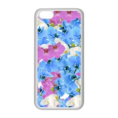 Tulips Floral Pattern Apple Iphone 5c Seamless Case (white)