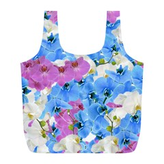 Tulips Floral Pattern Full Print Recycle Bags (L)