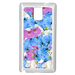 Tulips Floral Pattern Samsung Galaxy Note 4 Case (White)