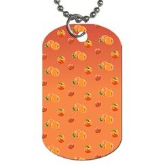 Peach Fruit Pattern Dog Tag (Two Sides)