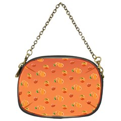 Peach Fruit Pattern Chain Purses (one Side)