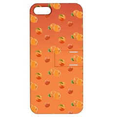 Peach Fruit Pattern Apple iPhone 5 Hardshell Case with Stand