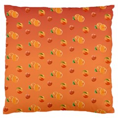 Peach Fruit Pattern Large Flano Cushion Case (two Sides)