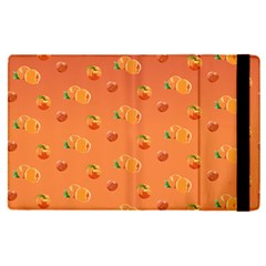 Peach Fruit Pattern Apple Ipad Pro 12 9   Flip Case