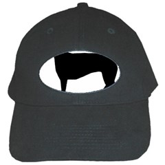 Greyhound Silhouette Black Cap