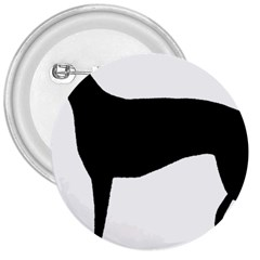 Greyhound Silhouette 3  Buttons