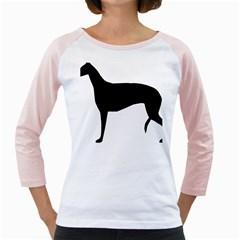Greyhound Silhouette Girly Raglans