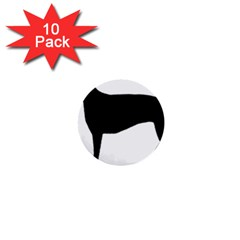Greyhound Silhouette 1  Mini Buttons (10 pack)
