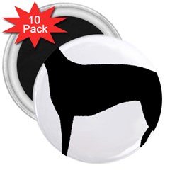Greyhound Silhouette 3  Magnets (10 pack)