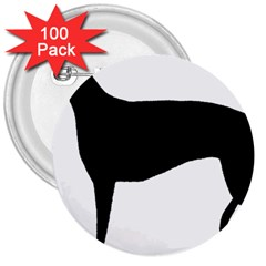 Greyhound Silhouette 3  Buttons (100 pack)