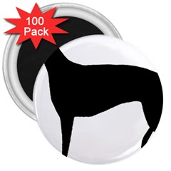 Greyhound Silhouette 3  Magnets (100 pack)