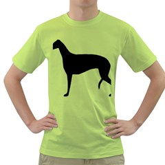Greyhound Silhouette Green T-Shirt