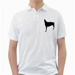 Greyhound Silhouette Golf Shirts