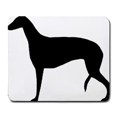 Greyhound Silhouette Large Mousepads