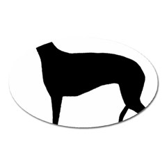 Greyhound Silhouette Oval Magnet