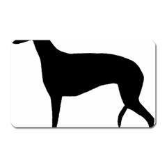 Greyhound Silhouette Magnet (Rectangular)