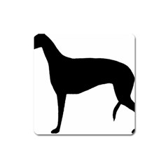 Greyhound Silhouette Square Magnet