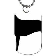 Greyhound Silhouette Dog Tag (Two Sides)