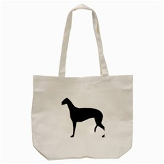 Greyhound Silhouette Tote Bag (Cream)