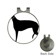 Greyhound Silhouette Hat Clips with Golf Markers