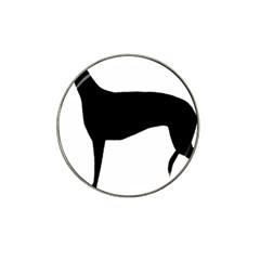 Greyhound Silhouette Hat Clip Ball Marker