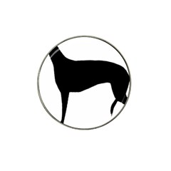Greyhound Silhouette Hat Clip Ball Marker (4 pack)