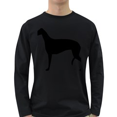 Greyhound Silhouette Long Sleeve Dark T-Shirts