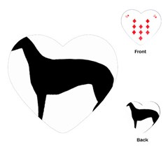 Greyhound Silhouette Playing Cards (Heart)