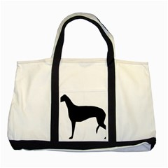 Greyhound Silhouette Two Tone Tote Bag