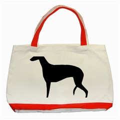 Greyhound Silhouette Classic Tote Bag (Red)