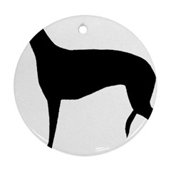 Greyhound Silhouette Round Ornament (Two Sides)
