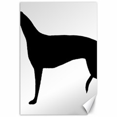 Greyhound Silhouette Canvas 12  x 18