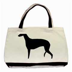 Greyhound Silhouette Basic Tote Bag (Two Sides)