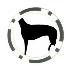 Greyhound Silhouette Poker Chip Card Guard