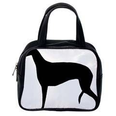 Greyhound Silhouette Classic Handbags (One Side)