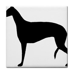 Greyhound Silhouette Face Towel