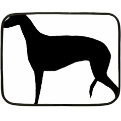 Greyhound Silhouette Fleece Blanket (Mini)