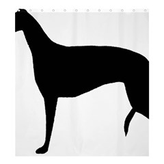 Greyhound Silhouette Shower Curtain 66  x 72  (Large)