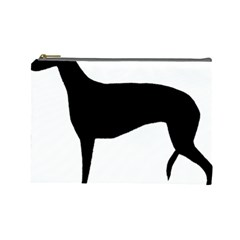 Greyhound Silhouette Cosmetic Bag (Large)