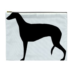 Greyhound Silhouette Cosmetic Bag (XL)