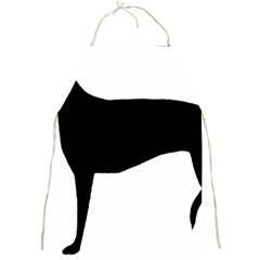 Greyhound Silhouette Full Print Aprons