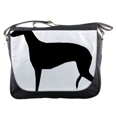 Greyhound Silhouette Messenger Bags