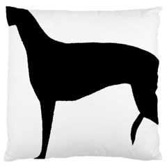 Greyhound Silhouette Large Cushion Case (Two Sides)