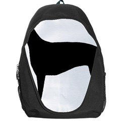 Greyhound Silhouette Backpack Bag